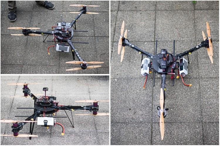 Der Y6 Multicopter Tardis in der Version 0.9 kurz vor den ersten Flugtests.